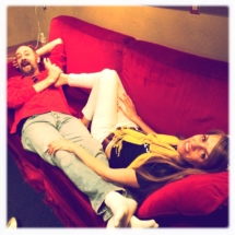 Backstage Lounging